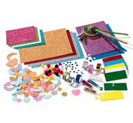 Caja creativa purpurina el conjunto