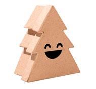 Caja abeto con sonrisa para decorar la unidad