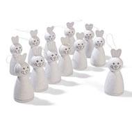 Conejos para decorar reciclables lote de 12