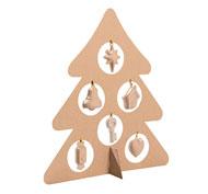 Árbol de navidad con accesorios para decorar reciclable el conjunto