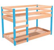 Cama alta de madera maciza cama doble la unidad