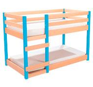 Cama alta de madera maciza cama doble y colchón impermeable el conjunto