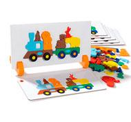 Juego de asociación magnético el tren de los animales el juego