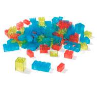 Bloques de construcción translúcidos lote de 100