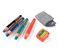 Lápices de colores acuarelables mina extra-gruesa woody el conjunto