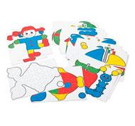 Grandes mosaicos fantacolor junior juego 16 fichas de actividades lote de 16