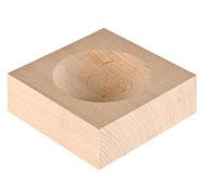 Bloque cóncavo de madera (cavidad ø 90 mm)