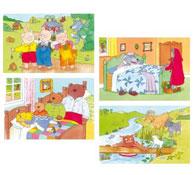 Lote 4 puzzles los cuentos 1