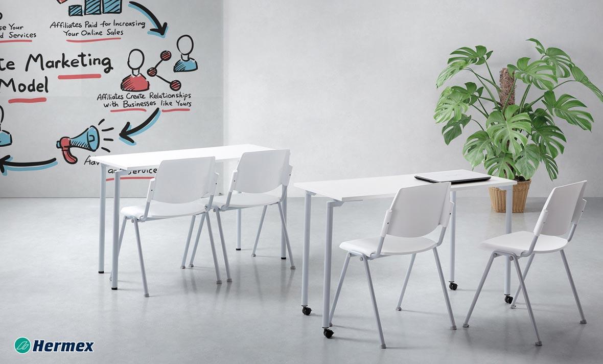 Aulas de Secundaria - Mesa Work Rec. + Silla Ibiza