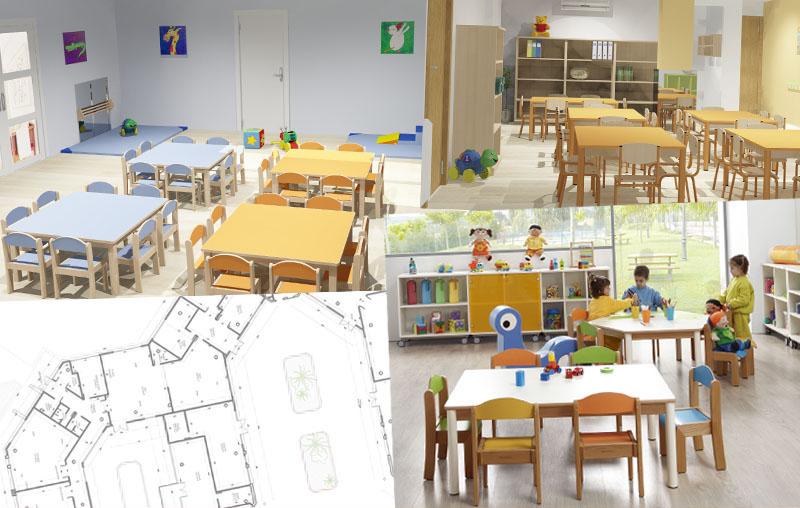 Hermex wesco mobiliario escolar infantil equipamiento for Proyecto de comedor infantil